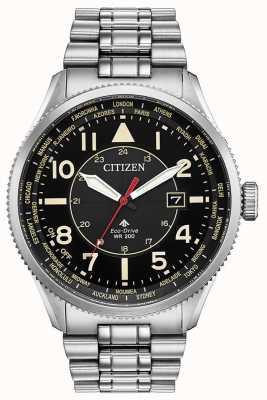 Citizen Эко-драйв Promaster Nighthawk из нержавеющей стали часы BX1010-53E