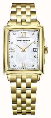 Raymond Weil Токката для женщин | золотой браслет с пвд | циферблат с бриллиантами 5925-P-00995
