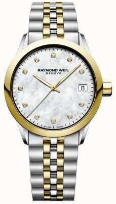 Raymond Weil Женская | фрилансер | алмаз | перламутр | две тонны 5634-STP-97081