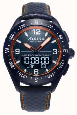 Смарт-часы Alpina x темно-синий кожаный ремешок AL-283LNO5NAQ6L