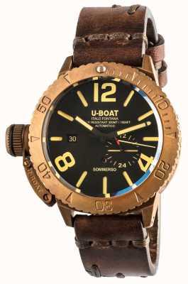 U-Boat Sommerso 46 бронзовый автоматический коричневый кожаный ремешок 8486