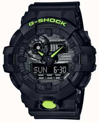 Casio G-шок | цифровой камуфляж | черная смола GA-700DC-1AER