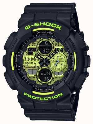 Casio G-шок | цифровой камуфляж | черная смола GA-140DC-1AER