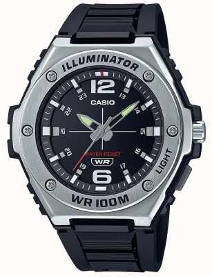 Casio Осветитель | черный циферблат | ремешок из черной смолы MWA-100H-1AVEF