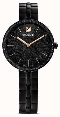 Swarovski Cosmopolitan | черный браслет с покрытием из пвд | черный блестящий циферблат 5547646