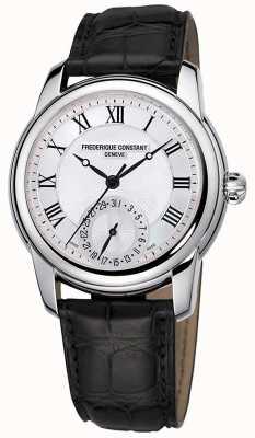 Frederique Constant Классический мужской автомат | черный кожаный ремешок | серебряный циферблат FC-710MC4H6