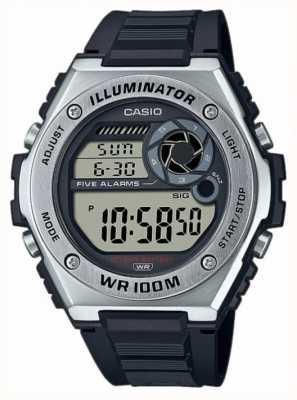 Casio Осветитель | черный силиконовый ремешок MWD-100H-1AVEF