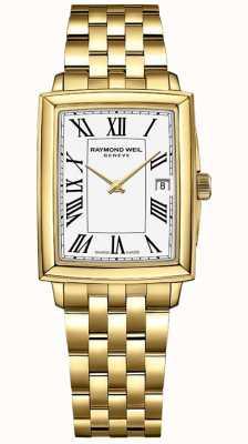 Raymond Weil Токката для женщин | браслет из желтого золота с пвд | белый циферблат | 5925-P-00300