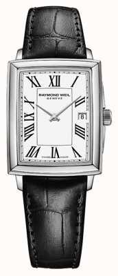 Raymond Weil Токката для женщин | черный кожаный ремешок | белый циферблат 5925-STC-00300