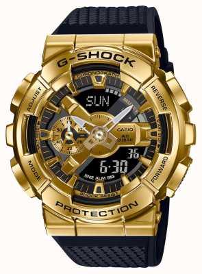 Casio G-шок | ремешок из текстурированной пластмассы | золотой металлический корпус | GM-110G-1A9ER