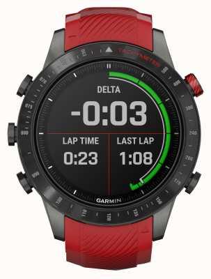 Garmin MARQ Версия драйвера для производительности   красный силиконовый ремешок 010-02567-01