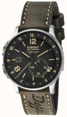 U-Boat 1938 doppiotempo dual time черный циферблат 8400/A