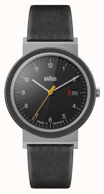 Braun Мужской классический черный циферблат черный кожаный ремешок AW10EVO