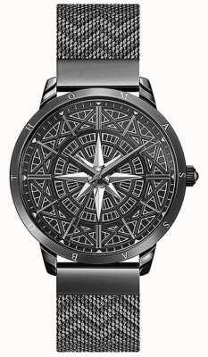 Thomas Sabo | мужские | дух | черный браслет из сетки | 3-мерный циферблат компаса | WA0374-202-203-42