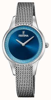 Festina Женская керамика | двухцветный браслет из стали / керамики | синий циферблат F20494/2
