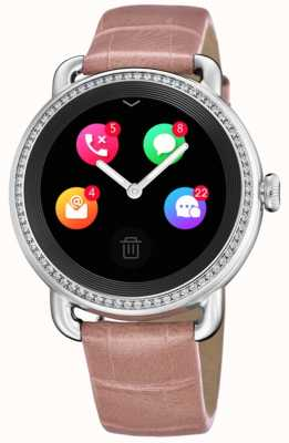 Festina Smartime | розовый кожаный ремешок | цветной экран | дополнительный ремешок со змеиным принтом F50000/2