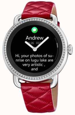 Festina Smartime | красный кожаный ремешок | цветной экран | дополнительный черный кожаный ремешок F50000/3