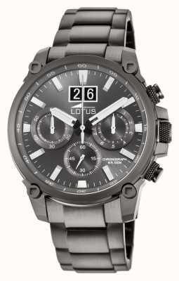 Lotus Серый мужской браслет из нержавеющей стали | серый циферблат хронографа L10140/1