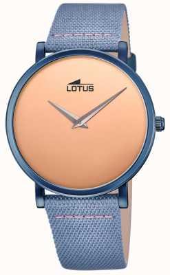 Lotus Мужской кожаный ремешок синий | циферблат из розового золота L18781/1