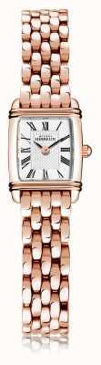 Michel Herbelin Арт-деко | женский стальной браслет с покрытием из розового золота | белый циферблат | римская цифра | 17438/PR08B