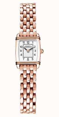 Michel Herbelin Арт-деко | женский браслет с покрытием из розового золота | белый циферблат 17438/PR22B