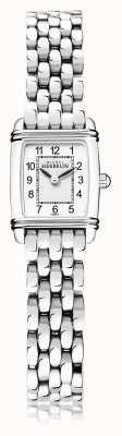 Michel Herbelin Арт-деко | женский браслет из нержавеющей стали | белый циферблат | 17438/22B