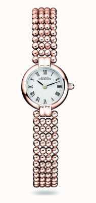 Michel Herbelin Perles | женский стальной браслет с покрытием из розового золота | белый циферблат 17433/BPR08