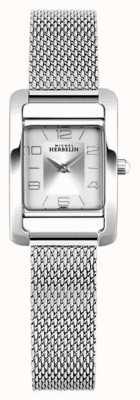 Michel Herbelin V авеню | браслет из стальной сетки | серебряный прямоугольный циферблат 17437/21B