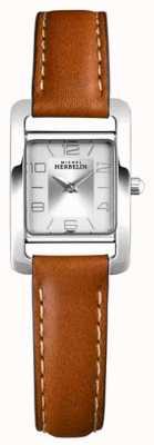 Michel Herbelin V авеню | коричневый кожаный ремешок | серебряный циферблат 17437/21GO