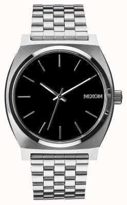Nixon Счетчик времени | черный | браслет из нержавеющей стали | черный циферблат A045-000-00