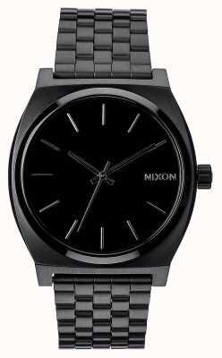 Nixon Счетчик времени | все черное | черный стальной браслет ip | черный циферблат A045-001-00