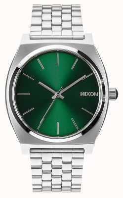 Nixon Счетчик времени | зеленый луч солнца | браслет из нержавеющей стали | зеленый циферблат A045-1696-00