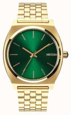 Nixon Счетчик времени | золотой / зеленый лучи солнца | золотой браслет из стали ip | зеленый циферблат A045-1919-00