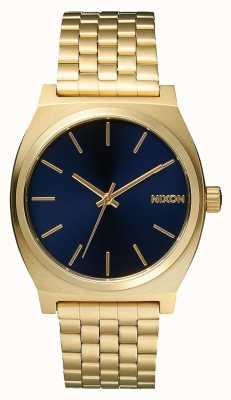 Nixon Счетчик времени | все светлое золото / кобальт | золотой браслет ip | синий циферблат A045-1931-00