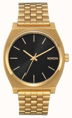 Nixon Счетчик времени | все золото / черный солнечный луч | золотой браслет ip | черный циферблат A045-2042-00