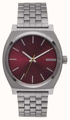 Nixon Счетчик времени | бронза / темно-бордовый | браслет ip из бронзы | бордовый циферблат A045-2073-00
