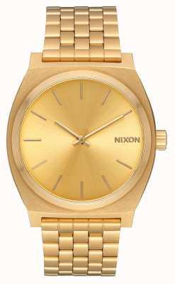 Nixon Счетчик времени | все золото / золото | золотой браслет ip | золотой циферблат A045-511-00