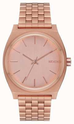 Nixon Счетчик времени | все розовое золото | браслет из розового золота | циферблат из розового золота A045-897-00