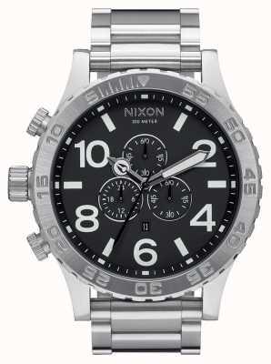 Nixon 51-30 хроно | черный | браслет из нержавеющей стали | черный циферблат A083-000-00