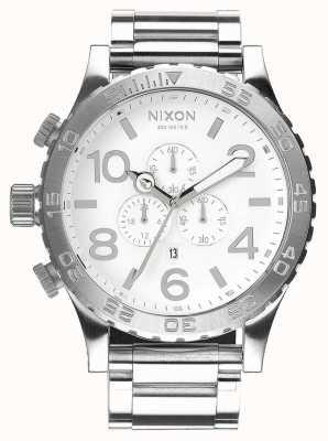Nixon 51-30 хроно | полироль / белый | браслет из нержавеющей стали | белый циферблат A083-488-00