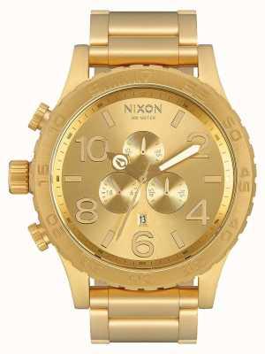 Nixon 51-30 хроно | все золото | золотой браслет ip | золотой циферблат A083-502-00