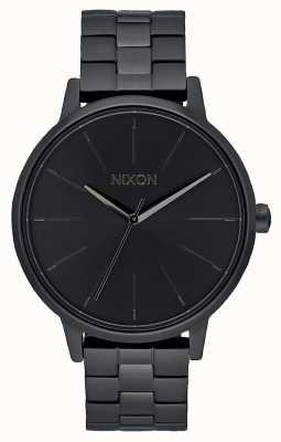 Nixon Кенсингтон | все черное | черный браслет ip | черный циферблат A099-001-00
