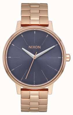 Nixon Кенсингтон | розовое золото / шторм | браслет из розового золота с IP-адресом | синий циферблат A099-3005-00
