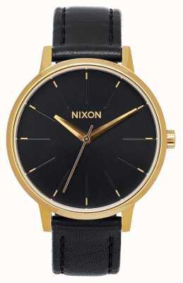 Nixon Кенсингтонская кожа | золото / черный | черный кожаный ремешок | черный циферблат A108-513-00