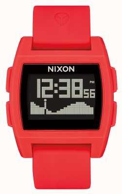 Nixon Базовый прилив | красный | цифровой | красный силиконовый ремешок A1104-200-00