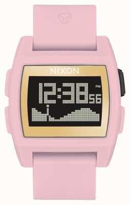 Nixon Базовый прилив   нежно-розовый / золотой / левый   цифровой   розовый силиконовый ремешок A1104-2773-00