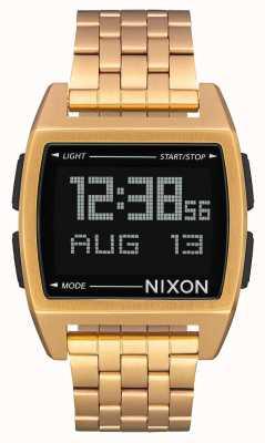 Nixon База | все золото | цифровой | золотой ip стальной браслет A1107-502-00