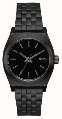 Nixon Кассир среднего звена | все черное | черный стальной браслет ip | черный циферблат A1130-001-00