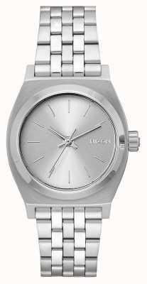 Nixon Кассир среднего звена   все серебро   браслет из нержавеющей стали   серебряный циферблат A1130-1920-00