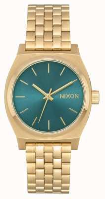 Nixon Кассир среднего звена | светлое золото / бирюза | золотой ip стальной браслет A1130-2626-00